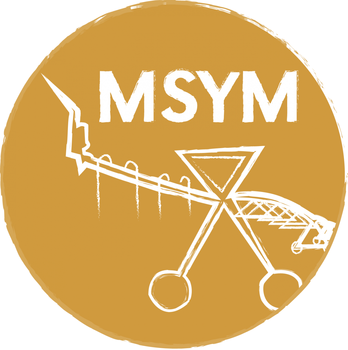 Gold logo for MSYM